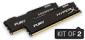 DUAL CHANNEL : 16GB (2x8GB) DDR4 2400MHz  Non-ECC CL15 DIMM (Kit of 2) HyperX FURY Black Series