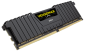 Single Stick: 16GB (1x16GB) DDR4-3000MHz Vengeance LPX Dimm C15 288-pin Memory, Black