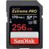 EXTREME PRO SDXC SDXXY 256GB V30 U3 C10 UHS-I 170MB/S R 90MB/S W 4X6 LIFETIME LIMITED